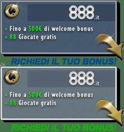 Migliori bonus benvenuto casino online